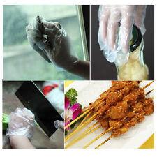 100 Pcs Disposable Sanitary Plastic Glove Restaurant Home BBQ Cook Kitchen Food