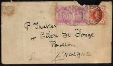 North Borneo Stamps 1/2 cent on cover used in South Africa during Boer War 1900