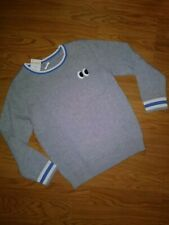 NWT Gymboree Boys Long Sleeve Sweater Pullover Gray Size 5-6 Solid