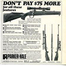 1969 small Print Ad of Jana Parker Hale Super 1200 Presentation & Varmint Rifle