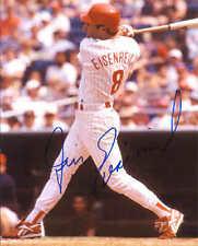"""Jim Eisenreich Autographed Philadelphia Phillies 8"""" x 10"""" Photo w/COA Cert."""