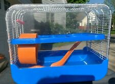 Small Animal Cage suitable for hamster mouse gerbil with exercise ball and ramp