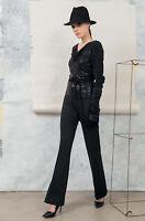 Edas pantaloni sigaretta donna Sirius NERO caviglia taglie forti elegante dritto