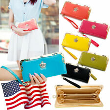 Faux Leather Clutch Celebrity Wallets for Women