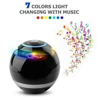 Mini Wireless LED Bluetooth Speaker Portable Super Bass Stereo USB/TF/FM Radio