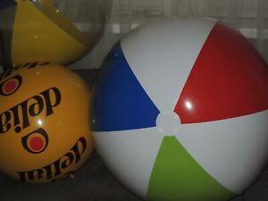 """Riesen Wasserball Weiß, Grün, Blau, Rot, inflatable Beach Ball 36"""" / 90cm Flach"""