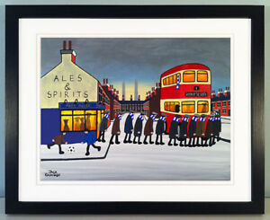 """JACK KAVANAGH """"GOING TO THE MATCH"""" QUEEN OF THE SOUTH FRAMED PRINT"""