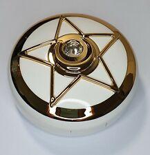 Chrome Gold Pentagram Coloured Contact Lens Lenses Travel Kit Mirror Case