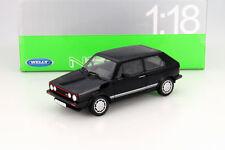 Volkswagen VW Golf 1 Gti Pirelli Anno di Costruzione 1983 Nero 1:18 Welly