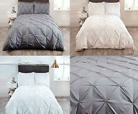 Balmoral Pleated Pinch Pintuck Quilt Cover Luxury Bedding Set ~ IN ALL SIZES ~