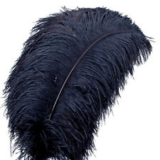 5PCS Craft Natural Ostrich Feathers Black/White/Red Plumes 54-60cm Wedding