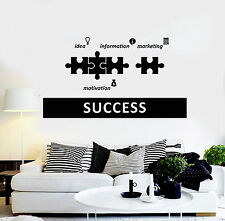 Vinyl Wall Decal Success Office Decoration Motivation Stickers (ig4385)