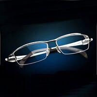 Pure Titanium Eye Glasses Men Half Frame Optical Prescription Eyeglasses