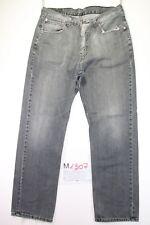 Levi's 751 (Cod. M1307) tg 50 W36 L32 jeans levis Nero vita bassa usato vintage