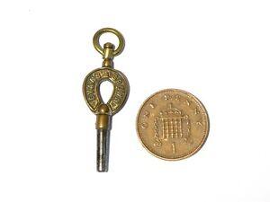 Antique Evans & Brown Shrewsbury Brass Named Pocket Watch Key Winder #WK1