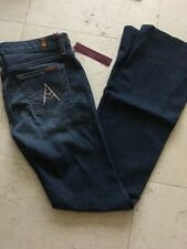 Seven 7 For All Mankind $189 A Pocket Flare Jeans 26 Authentic Rhinestone New *