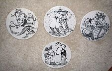 WIINBLAD Rosenthal  APRIL JUNE MARCH wall PLAQUES plates 6 ""