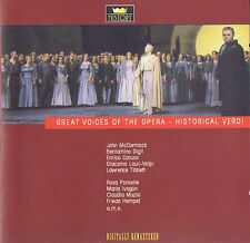 Great voices of the Opera-Historical verdi CD (2cd) DOUBLE CD