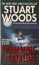 SWIMMING TO CATALINA, by Stuart Woods - 1998 Harper suspense PB 1st, VF+