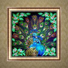 Peacock 5D Full Diamond Embroidery Painting Rhinestone Cross Stitch DIY Craft