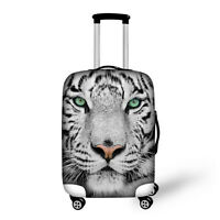 """White Tiger Cool Elastic Travel Spandex Luggage Cover Suitcase Protector 18-30"""""""