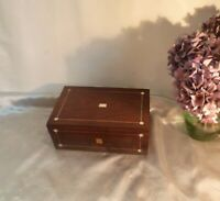 Victorian Antique Rosewood Box-Mother of Pearl and Stringing-Circa 1860