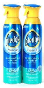 2 Count Pledge 9.7 Oz Clean It Rainshower Gentle Multisurface Cleaner Spray