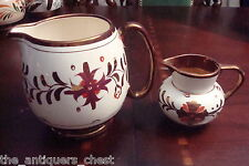 GRAY'S POTTERY Lancaster Stoke-on-Trent England milk jar & creamer[coppbox]