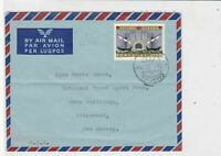 portugal 1962 air mail stamps cover ref 19383