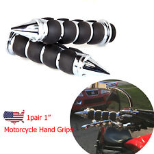 "Motorcycle Hand Grips 1"" Handlebars Black For Harley-Davidson Sportster Parts US"