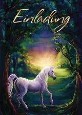 Einladungskarten Einhorn Pferd Einladungen Kindergeburtstag Mädchen Girlsparty