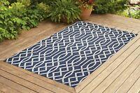 Benissimo Indoor / Outdoor Sisal Area Rug for Garage, Garden Kitchen   Navy