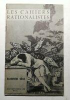 #7 Les Cahiers rationalistes N181 août-décembre 1959 18e siècle