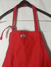 New listing All- Clad Bright Red Ribbed Unisex Apron 3 Pockets In The Front 100% Cotton