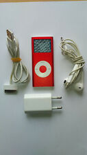 Apple IPod Nano 4 GB Red product with accessories (2nd Generation) Free Shipping