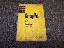 CAT Caterpillar D7 Bulldozer Dozer Tractor Shop Service Repair Reference Manual