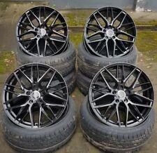 18 Zoll Damina DM08 Alu Felgen 5x112 et45 schwarz für Mercedes Audi VW Skoda RS
