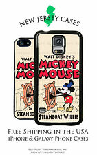 Disney Mickey Mouse Steamboat Willie Apple, Samsung, LG, Google Pixel Phone Case