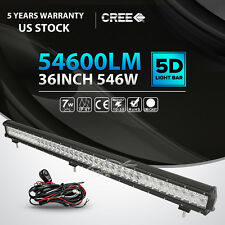 5D 36INCH 546W LED LIGHT BAR SPOT FLOOD OFFROAD LAMP 4WD TRACTOR CAR 42""