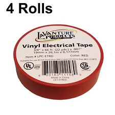 "4 Rolls of Red Electrical Tape 3/4"" X 66ft Trailer RV Wires LaVanture"