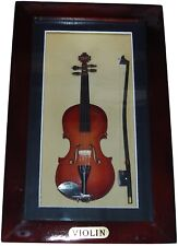 "Shadow Box framed with handmade collectible miniature Violin (8.625"" x 5"")"