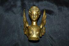 Antique Victorian WINGED WOMAN Ornate Bronze Decorative Part Hardware