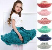 Girls Kids TUTU Ballerina Petticoat Fancy Dress Dance Party Layers fluffy Skirt