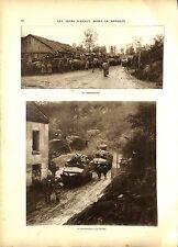 WWI Bataille de la Somme Chars d'Assaut Poilus Armée Française ILLUSTRATION
