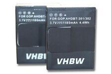 2x Batterie 1180mAh pour Gopro Hero 3 / AHDBT-201 / AHDBT-301 / AHDBT-302