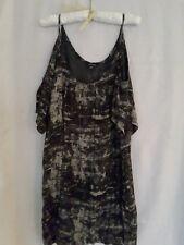 Portmans summer beach dress cold shoulder size M black and taupe