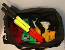 Protege Sport: Black Soccer Referee Bag - Dual Handles,Shoulder Strap, 3 Pockets