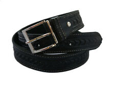 Handmade black leather belt
