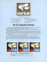 #8330 $9.35 Express Mail Stamp Booklet Pane of 3 #1909a USPS Souvenir Page