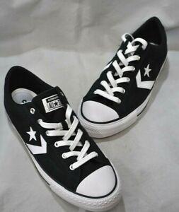 Converse Men's Black & White Lace-Up Sneaker Size 9.5